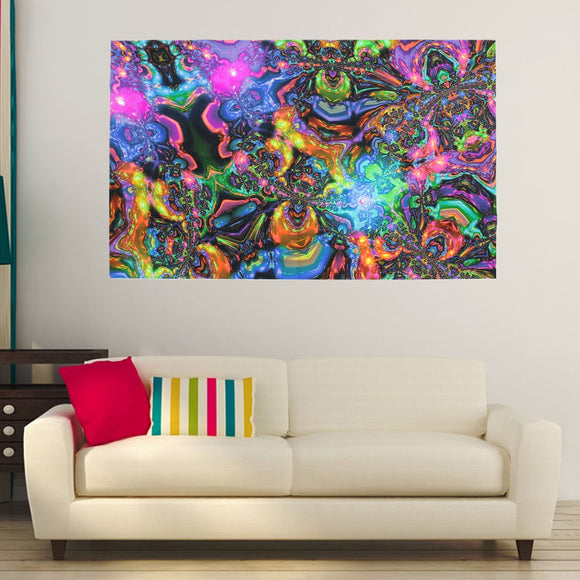 Psychedelic - 3D Kaleidoscope Silk Poster