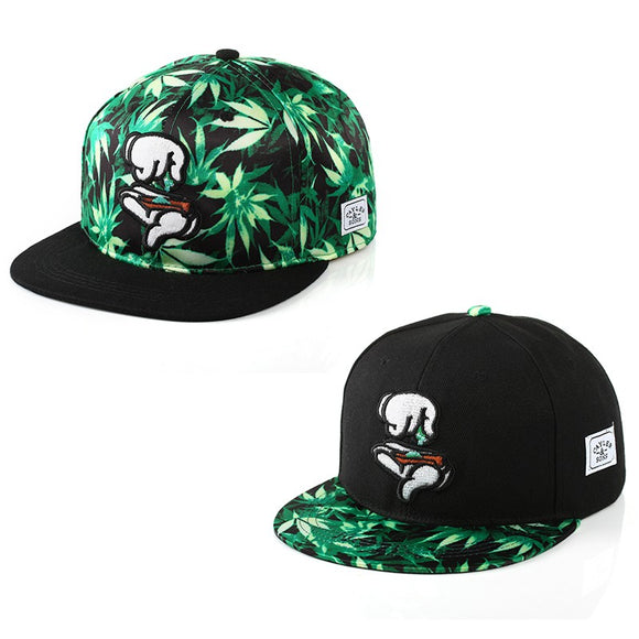 Fingers Rollin Cannabis Snapback Flat Bill Hat