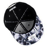 Embroidered Weed Leaf Snapback Hat Black