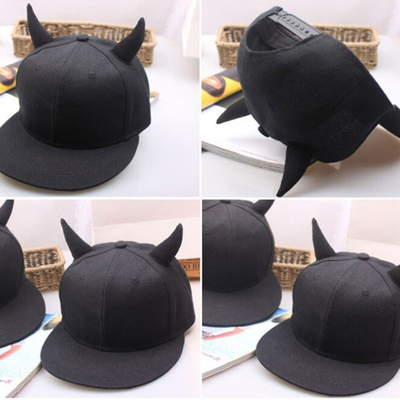 Devil Horns - Flat Bill Snapback Hat
