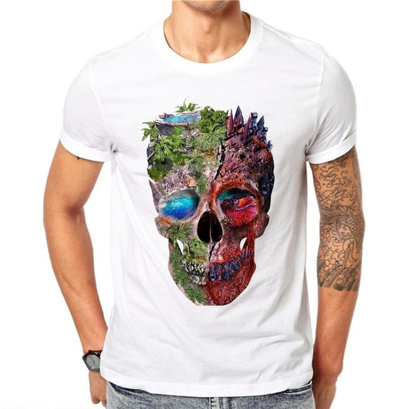Cool Tees - Forest Skull Yin-Yang T-shirt