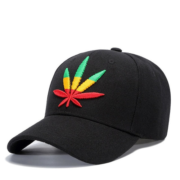 Summer Hats For Men's Women's Hemp leaves Baseball Cap Adjustable dad Hat Sunscreen Snapback Embroidery Unisex sun hat