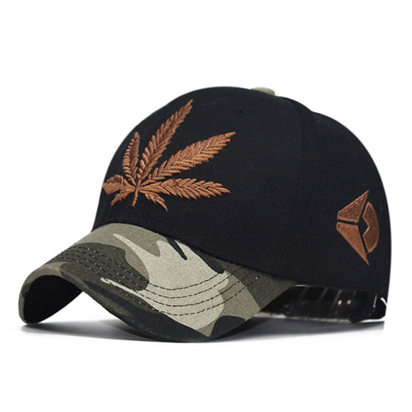 2017 New Rainbow Patchwork Spring Hemp Leaves Baseball Caps For Women Men Fashion Camouflage Brim Hip Hop Snapback Hats Leaf Cap
