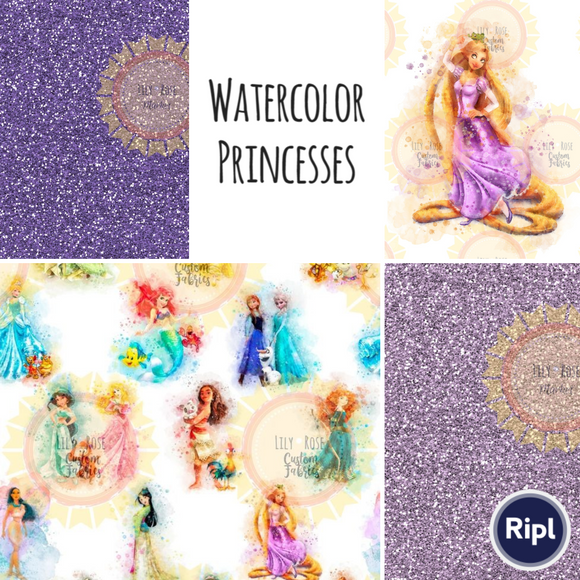 Watercolor Princesses *RETAIL*