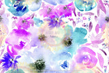 Blue and Purple Watercolor Floral *PREORDER*