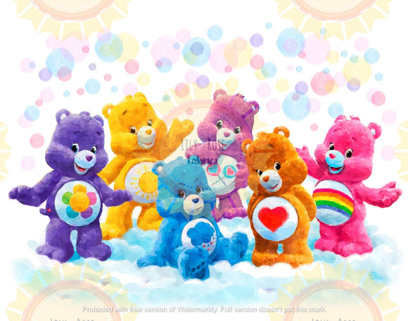 Carebears Watercolor Blanket Topper *PREORDER*