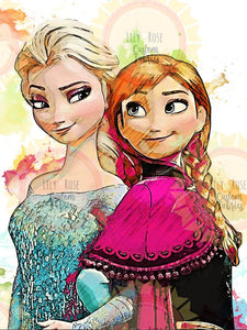 Elsa and Anna Colorful Topper PREORDER