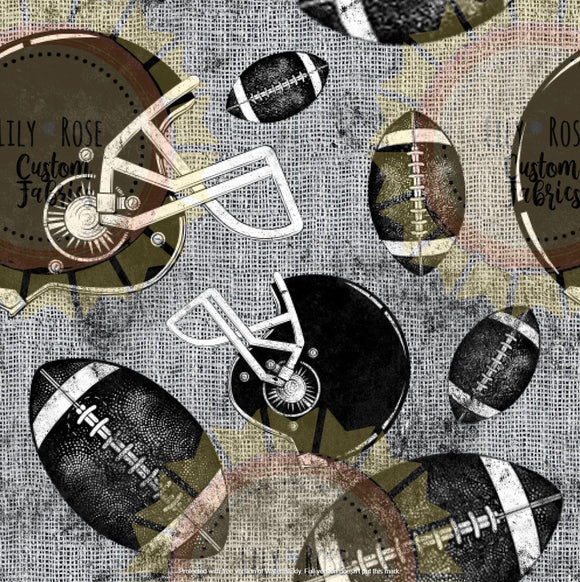 Football Grunge PREORDER * Closes 4/6/20 (Scale: Largest approximately 3.75