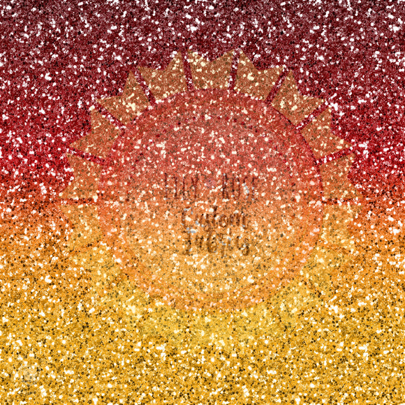 Red and Gold Ombre Glitter *PREORDER*
