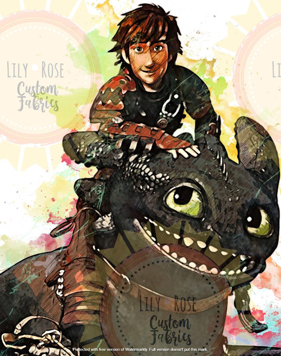 Hiccup and Dragon Blanket Topper *PREORDER*