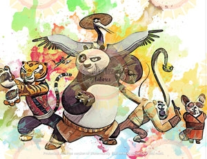 Kung Fu Panda Watercolor Blanket Topper *PREORDER*