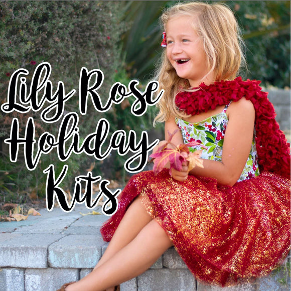 Lily Rose Holiday Dress Kit and Sew Along, Featuring Eunoia Designs Orchid Lane Dress **SHIPS WITHIN 2 BUSINESS DAYS**