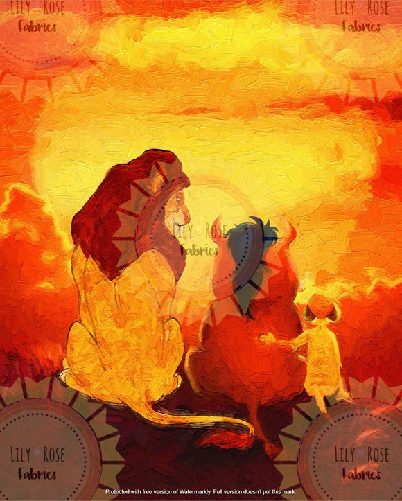 Lion King Acrylic Paint Blanket Topper *PREORDER*