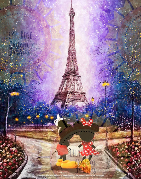 Mickey in Paris Blanket Topper *PREORDER*