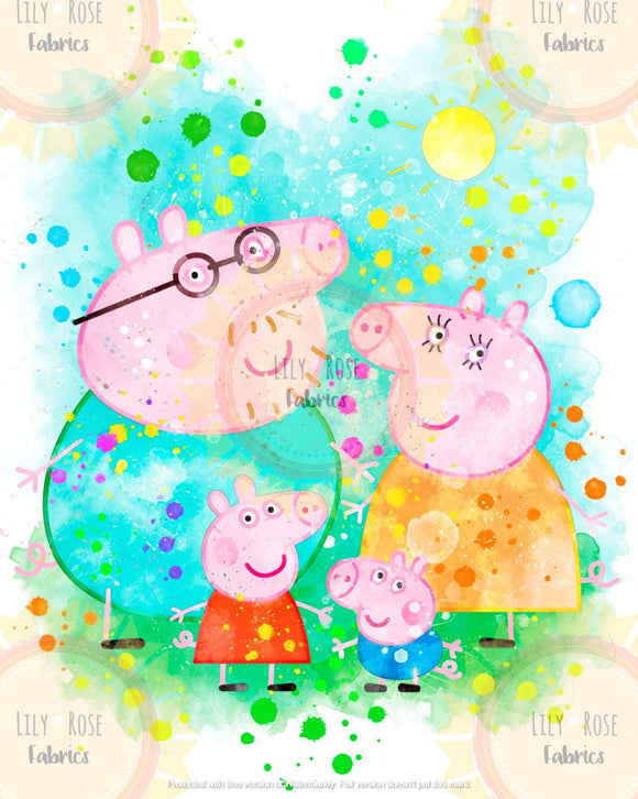 Peppa NEW Watercolor Blanket Topper *PREORDER*