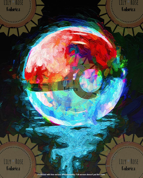 Pokeball Acrylic Paint Blanket Topper *PREORDER*