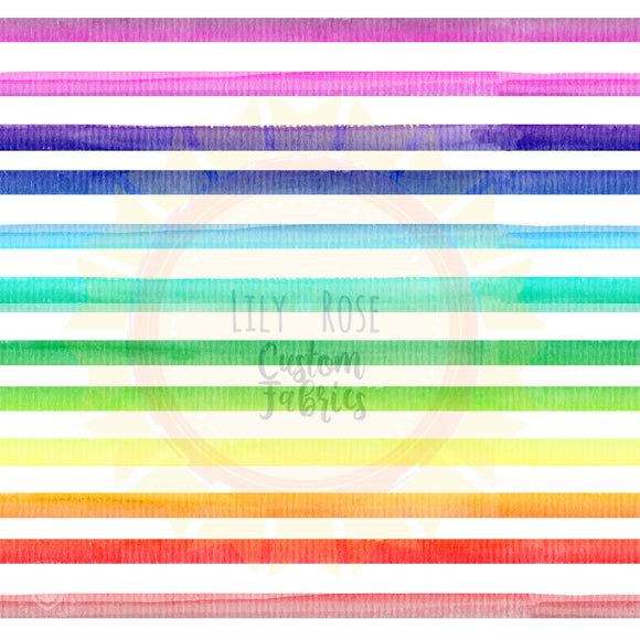 Rainbow Watercolor Stripe *PREORDER*