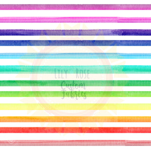 Rainbow Watercolor Stripe *RETAIL*