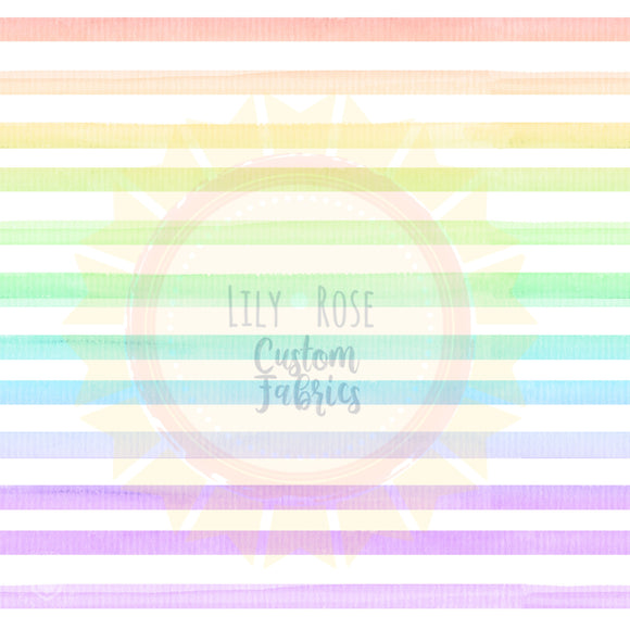 Pastel Rainbow Watercolor Stripe *PREORDER*