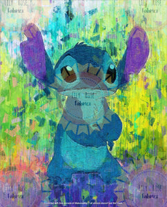Stitch Rainbow Acrylic Paint Blanket Topper *PREORDER*