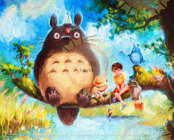 Totoro Acrylic Paint Blanket Topper *PREORDER*