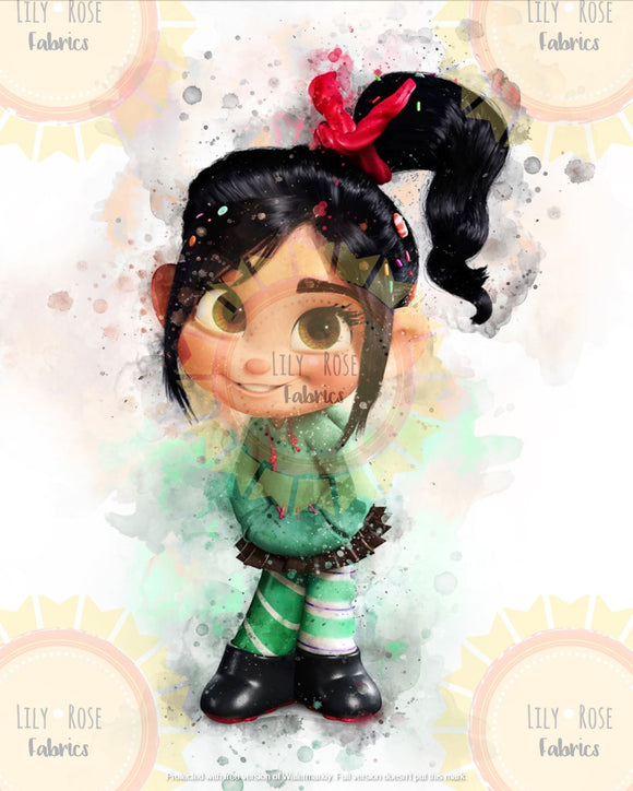 Vanellope Watercolor Blanket Topper *PREORDER*