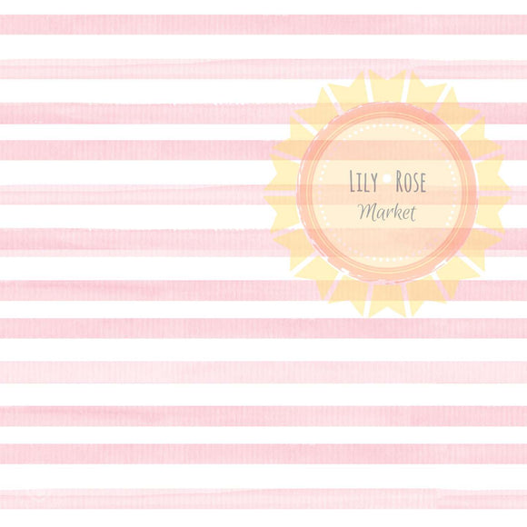 Blush Pink Watercolor Stripe *PREORDER*