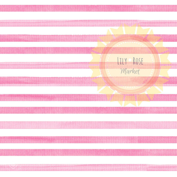 Raspberry Watercolor Stripe  *PREORDER*