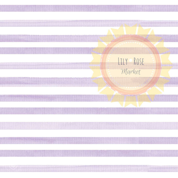 Lilac Watercolor Stripe *PREORDER*