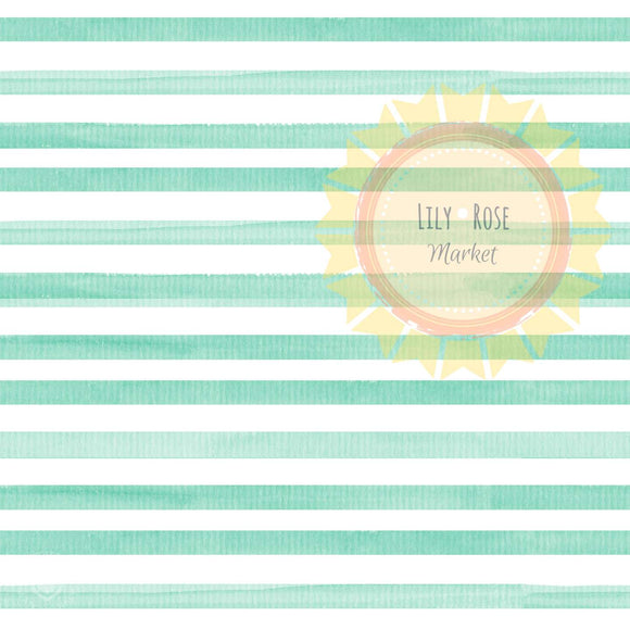 Mint Watercolor Stripe  *PREORDER*