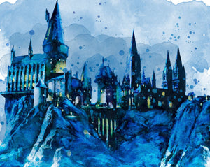 Watercolor Hogwarts Topper *RETAIL*