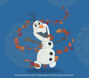 Enchanted Forest Snow Man Blue Panel *PREORDER*