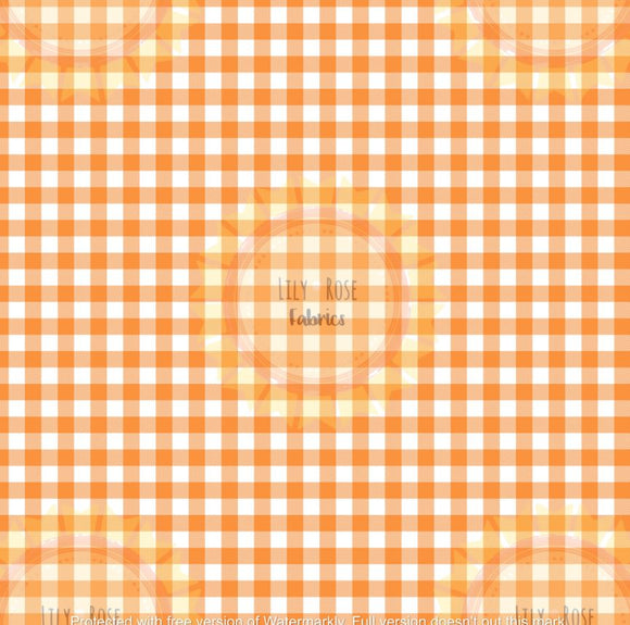 Orange Gingham *PREORDER*