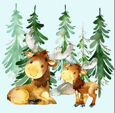 Moose Blue Blanket Topper *PREORDER*