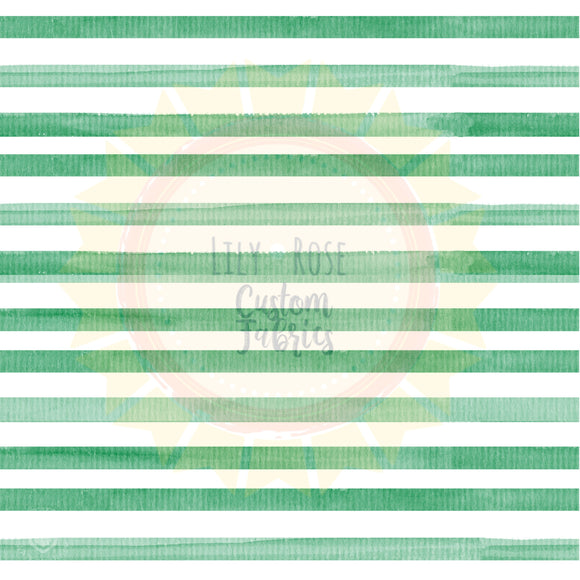 Dark Green Watercolor Stripe *PREORDER*