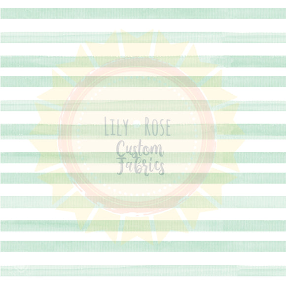 Light Green Watercolor Stripe *PREORDER*