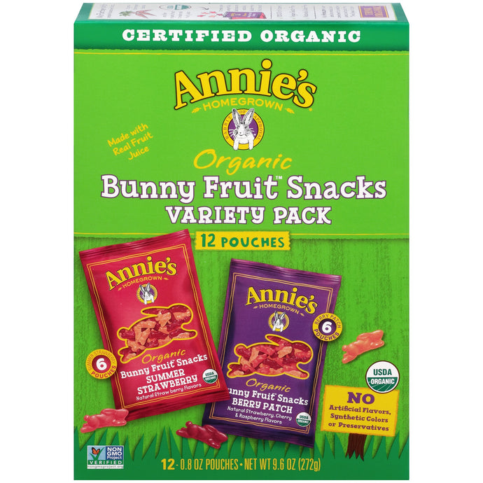 Annie's Organic Bunny Fruit Snacks Variety Pack, 12 Ct