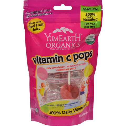 Yummy Earth Organic Vitamin C Pops - 3 Ounce
