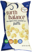 Load image into Gallery viewer, Earth Balance Vegan Aged White Cheddar Flavor Original Puffs Gluten Free
