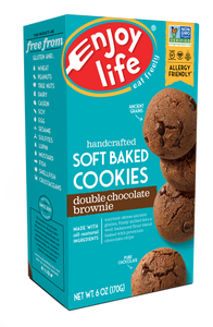 Enjoy Life Foods Gluten Free Soft Baked Cookies, Double Chocolate Brownie, 6 Oz