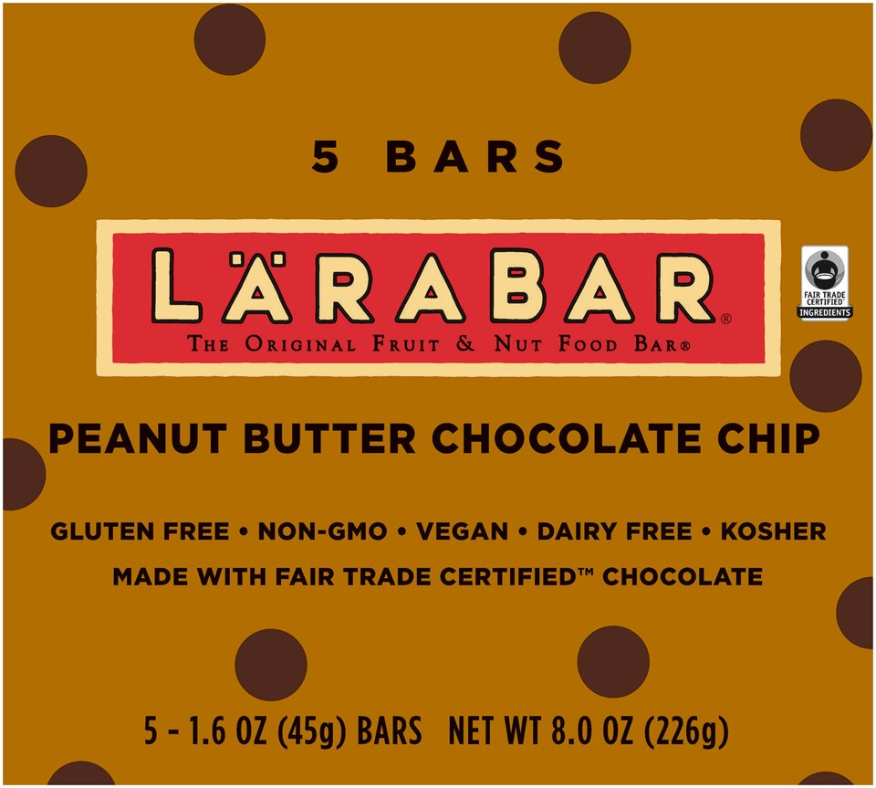 LARABAR Peanut Butter Chocolate Chip Fruit & Nut Bars, 1.6 Oz, 5 Ct