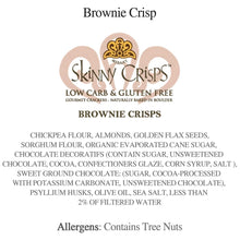 Load image into Gallery viewer, Skinny Crisps Brownie Crisps Gourmet Crackers Gluten Free