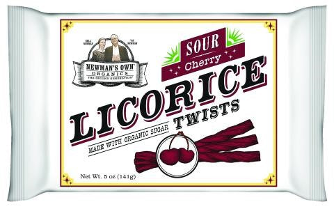 Newman's Own Organics Licorice Twists, Sour Cherry, 5 Ounce Packages