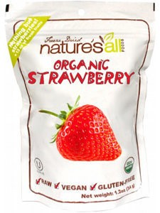 Nature's All Foods Freeze Dried Strawberries, 1.2 Oz