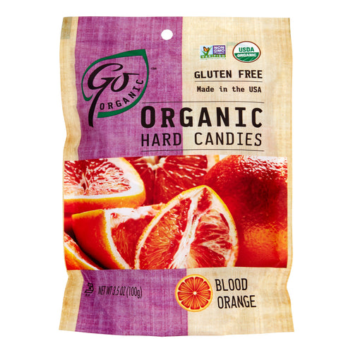 Go Organic Hard Candy, Blood Orange, 3.5 Oz, 6 Ct