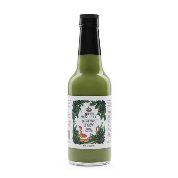 Queen Majesty Jalapeño Tequila & Lime Hot Sauce 10oz.