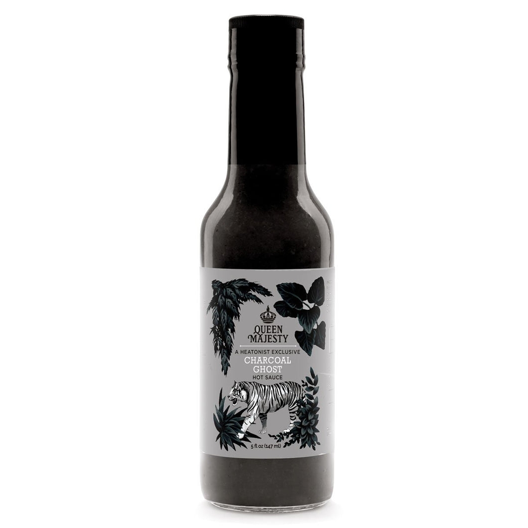 Queen Majesty Charcoal Ghost Hot Sauce 5oz.