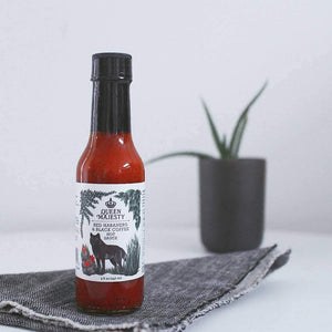Queen Majesty Red Habanero & Black Coffee Hot Sauce 5oz.