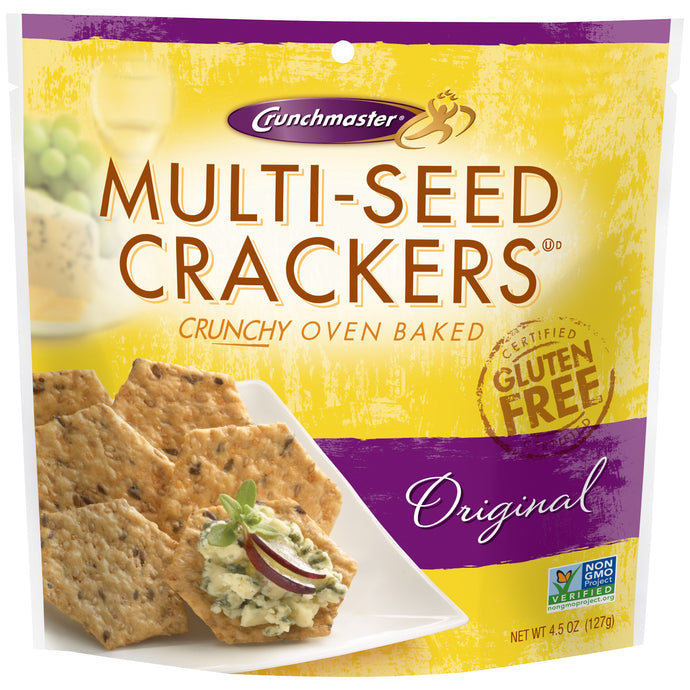 Crunchmaster Gluten Free Multi-Seed Crackers, Original, 4.5 Oz