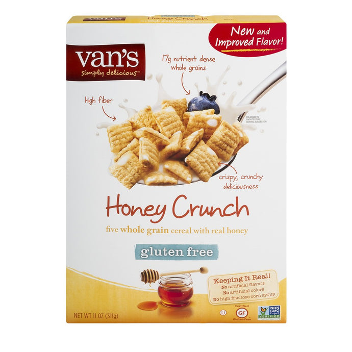 Van's Five Whole Grain Cereal with Real Honey - Honey Nut Crunch, 11 Ounce